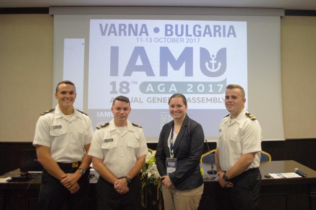 Students, professor at International Association of Maritime Universities General Assembly